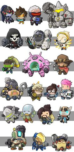 Overwatch Chibi style Widowmaker Tracer Reinhardt Reaper Winston Mercy, Lúcio, D. Overwatch Widowmaker, Overwatch Comic, Chibi Overwatch, Overwatch Memes, Overwatch Fan Art, Overwatch Genji, Game Character, Character Concept, Overwatch Wallpapers