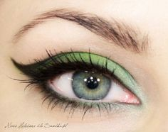 Cute eye makeup.