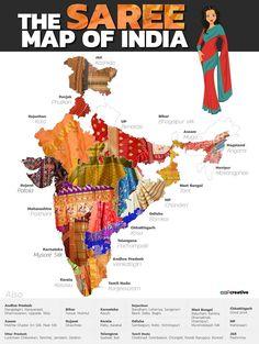 Sarees of India of india of indi. - Sarees of India of india of india - Indian Fabric, Indian Textiles, India Map, India India, India Travel, India Facts, Amazing India, History Of India, India Culture