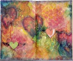 Mixed Media Art Journal Page - Artist Janine Koczwara