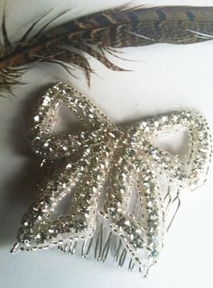 1920's Inspired Romantic Bow Hair Comb-http://www.etsy.com/listing/82354622/romantic-rhinestone-bow-hair-comb