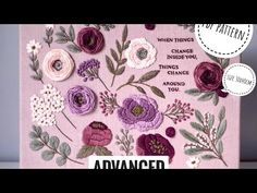 """Embroidery tutorial+ pattern """"Heather field"""". Advanced - YouTube Advanced Embroidery, Hand Embroidery Art, Embroidery For Beginners, Embroidery Stitches, Embroidery Patterns, Art Tutorial, Sewing Stitches, Pdf Patterns, Couture"""