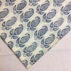 Hand Block Printed Indian Cotton Fabric - Indigo and White Printed Cotton Fabric… Indian Patterns, Textile Patterns, Textile Prints, Textile Design, Fabric Design, Print Patterns, Indian Prints, Indian Textiles, Surface Art