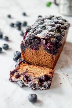 Gluten Free Blueberry Pound Cake.