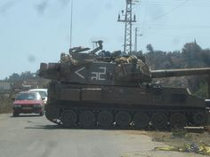 An Israeli army tank in northern Israel a few days after the cease-fire