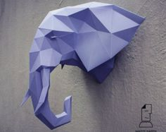 Papercraft fox head printable DIY template by WastePaperHead