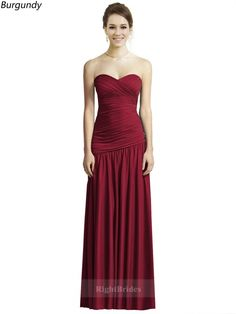 Cheap Right Gowns 2018 Most Wished Long Chiffon Sweetheart Satin Burgundy Sleeveless Bridesmaid Dresses 171315, Right Bridesmaid Dresses, Cheap Bridesmaid Dresses and Buy Discount Bridesmaid Dresses2018