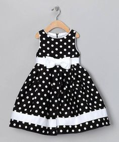 Take a look at this Black & White Dotty Dress - Infant, Toddler & Girls by Spring Soire: Girls' Dresses on today! sarahandava Take a look at this Black & White Dotty Dress - Infant, Toddler & Girls by Spring Soire: Girls' Dresses on today! Little Girl Outfits, Little Girl Fashion, Little Girl Dresses, Kids Outfits, Kids Fashion, Baby Outfits, Baby Girl Dresses, Baby Dress, Dot Dress