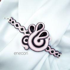 Soutache bracelet Pink bracelet by enecon on Etsy Soutache Bracelet, Soutache Jewelry, Trending Outfits, Unique Jewelry, Handmade Gifts, Pink, Vintage, Etsy, Diamonds