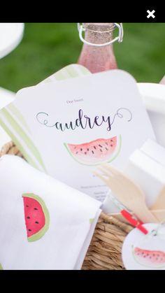 Watermelon invitation from twinklwtwinklelittleparty.com
