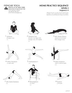 Home Practice Sequence Level I Sequence 4 | Iyengar Yoga Institute of New York #iyengar #yoga