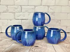 My latest batch of Blue World Mugs just came out of the kiln and they have super-chill, blue-green drips that you can get lost in while becoming one with your morning coffee or bedtime tea. Coffee tastes better in a handmade mug. Pottery Mugs, Pottery Studio, Stoneware Clay, Handmade Pottery, Ferns, North West, Carving, Pacific Northwest, Morning Coffee