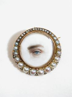 Victorian Jewelry, Antique Jewelry, Vintage Jewelry, Victorian Fashion, Lovers Eyes, Behind Blue Eyes, Miniature Portraits, Mourning Jewelry, Eye Jewelry