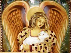 FF28 Golden Angel Baby Lamb Large Panel Cotton fabric Quilt fabric