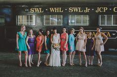 Bright and beautiful bridesmaids!