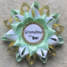 Mint and Gold Baby Shower Pins Baby Shower Decorations Mint...