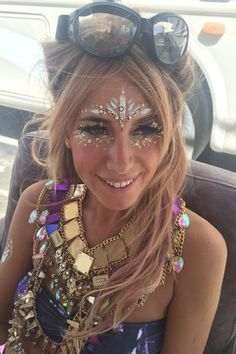 Warning: You'll want to reach for the glitter pot after you've seen these Burning Man beauty looks...