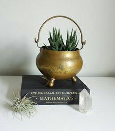 Brass Planter Gold Planter Brass Decor Vintage Planters Gold Decor Vintage Decor Brass Vase by ShopMidCenturyModest Gold Planter, Planter Pots, Antique Decor, Vintage Decor, Planters For Sale, Brass Pot, Vintage Planters, Indian Home Decor, Vintage Metal
