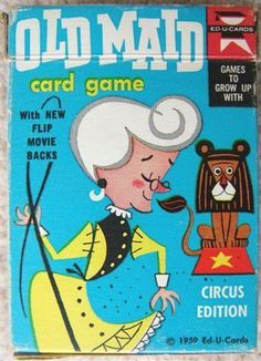 Check out Vintage OLD MAID CARD GAME Circus Edition 1959 Ed-U-Cards with FLIP MOVIE BACKS  http://www.ebay.com/itm/Vintage-OLD-MAID-CARD-GAME-Circus-Edition-1959-Ed-U-Cards-FLIP-MOVIE-BACKS-/160669969478?roken=cUgayN&soutkn=i2y2Gp via @eBay