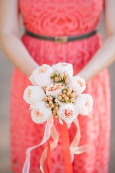 Pink rose bouquet: http://www.stylemepretty.com/2014/03/19/budget-friendly-diy-scottsdale-country-club-wedding/ | Photography: Justin And Keary Weddings - http://justinandkeary.com/