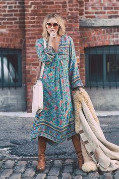 Pre-Order // Folk Town Boho Maxi Dress - Turquoise