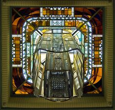 Reims - Carnegie Library skylight by tiz_herself on Flickr.