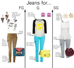 Jeans for Gamine Types