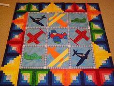 Free Airplane Quilt Pattern | Sarcastic Quilter: Bloggers Quilt Festival - Airplane Quilt Baby Boy Quilt Patterns, Baby Boy Quilts, Quilt Patterns Free, Applique Patterns, Free Pattern, Patchwork Quilting, Quilt Stitching, Children's Quilts, Aplique Quilts