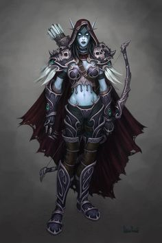 Lady Sylvanas Windrunner. My favorite horde leader atm. Used to be Thrall, until he abandoned us. /cry