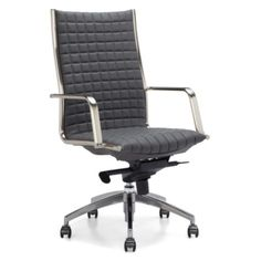 Network Desk Chair - High Back from Z Gallerie, I like the height of the back of this one so you can see it better behind your desk.