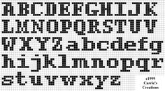 Resultado de imagem para gráfico de letras para crochê