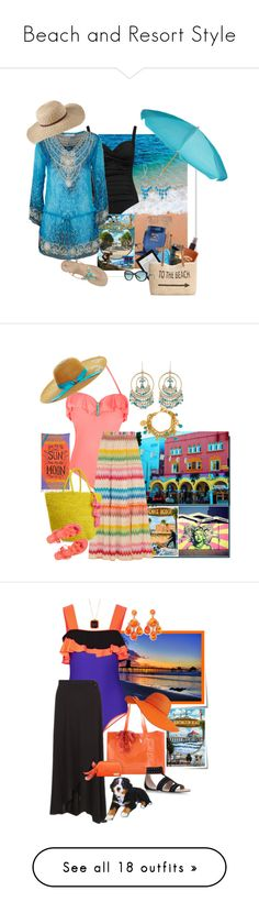 """""""Beach and Resort Style"""" by easy-dressing on Polyvore featuring La Blanca, Hawaiian Tropic, Vera Bradley, Casetify, Style & Co., Tiffany & Co., Lilly Pulitzer, ELIZABETH HURLEY beach, L.L.Bean and Bling Jewelry"""