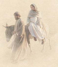 In those days Ceasar Augustus published a decree ordering a census of the whole world. And so Joseph went to Judea, to David's town of Bethlehem....to register with Mary, his espoused wife, who was with child. (Luke: 2:1, 4-5)