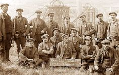 Glamorgan, Rhondda Valleys, Clydach Vale, Coal Miners of the Traffic Department - Lower seam - Park Colliery July 2nd 1913.jpg 930×594 pixels