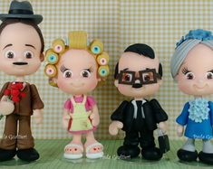 topo-de-bolo-turma-do-chaves-kit-9-bonecos-chiquinha Polymer Clay Dolls, Polymer Clay Charms, Clay Projects, Clay Crafts, Animated Movie Posters, Fondant Animals, Quilling Paper Craft, Clay Baby, Cute Clay