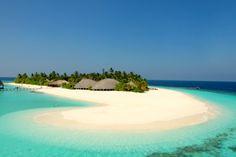 Beach area at Angaga Island Resort