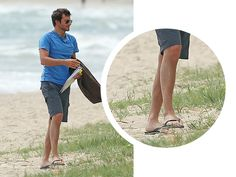 SPOTTED: Bradley Cooper taking in the beach in our Brasil flip flops!