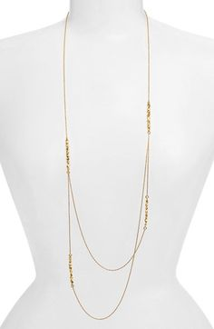Free shipping and returns on Alexis Bittar 'Elements - Phoenix' Long Station Necklace at Nordstrom.com. Soldered intervals of golden nuggets sparked with Swarovski crystals beautify a long, tiered chain necklace.