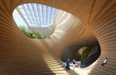 Wooden Orchids' by Vincent Callebaut - Vincent Callebaut/Solent News/REX