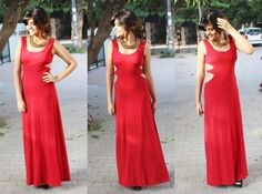 Red gown!