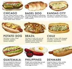 40 styles de Hot Dog à travers le monde