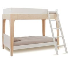 The elegant Perch twin-sized bunk bed is the perfect centerpiece for any child's room. Its compact footprint leaves plenty of room for play and additional furnishings. The versatile Perch easily separates into a twin-sized loft bed and a standalone lower twin bed, giving many configuration options.   This item is GREENGUARD Gold certified.