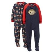 Toddler Boys' Lightweight Monkey Footed Sleeper 2-Pack