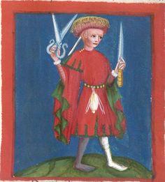 Jacobus : Das Schachzabelspiel, in deutsche Prosa übertragen 1407  Cgm 49  Folio 31r