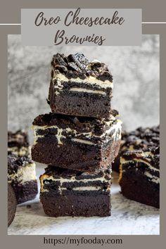 Oreo Cheesecake Cookies, Oreo Brownies, Best Cheesecake, Oreo Cookies, Cheesecake Recipes, Brownie Recipes, Chocolate Recipes, Brownies Decorados, Oreo Torta