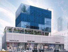 Construction Begins at 200 Kent Avenue, Williamsburg, Brooklyn - New York YIMBY Office Building Architecture, Concept Architecture, Contemporary Architecture, Manhattan Skyline, Lower Manhattan, Bedford Avenue, Glass Curtain Wall, Williamsburg Brooklyn, Concrete Structure