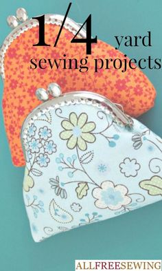 These free sewing patterns are quick and easy-to-sew. Using only 1/4 yard of fabric, easy sewing projects like these will cost just about nothing to make, use up scraps, and are some of the cutest budget friendly sewing projects you will find.