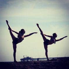 Dance pics on the beach! (I'm on the left and Eliza's on the right!) ☀