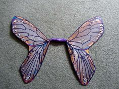Wings made out of old pantyhose!  maybe one day I'll be able to make wings that look like they were made by a teenager instead of a third grader - I'll keep this picture to inspire me...