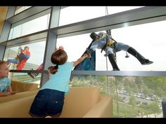 Superhero Window Washers -- Penn State Hershey Children's Hospital